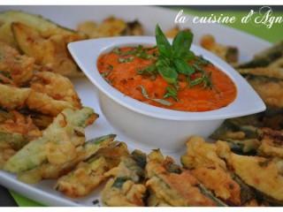 tempura de courgettes