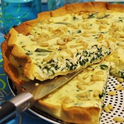tarte aux blettes et a la ricotta Image