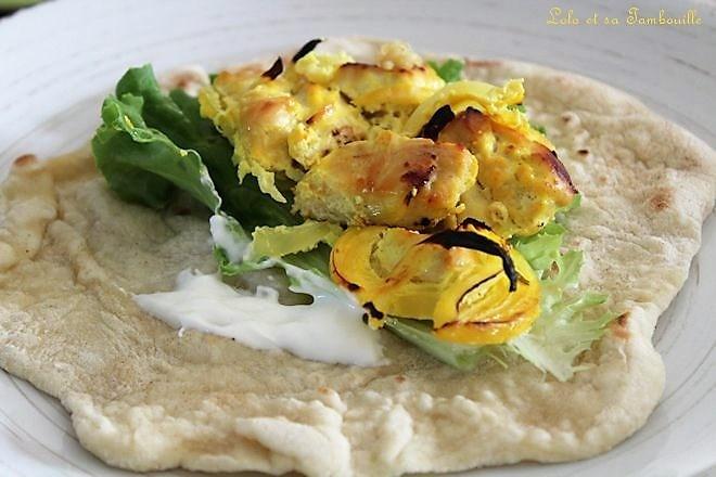 Poulet au safran et citron (Joojeh Kabab) Image